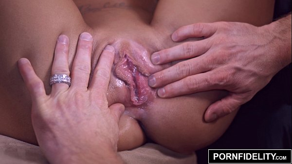 Busty motherless blonde fucking her big cock companion