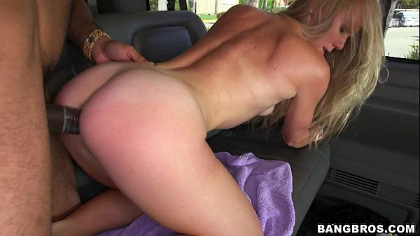 Hot naughty blonde fucking inside the car fell into the net