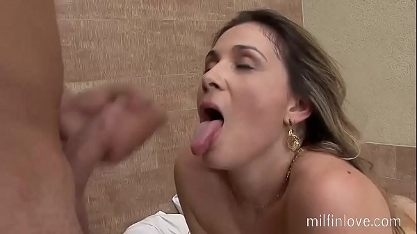 Blonde milf meets a young cock!